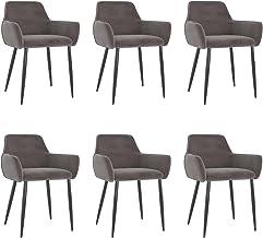 vidaXL Zestaw 6 krzeseł do jadalni, krzesła kuchennego, krzesła tapicerowane, krzesła do salonu, krzesła do jadalni, krzes...