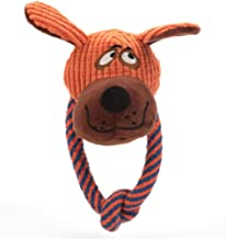 TIANPENG Juguete para Perros Juguetes para Perros Animal Design Plush Dog Bear Toys Durable Fleece Chew Toys Training Dentición Juguetes para Cachorros Pequeños A Medianos, Oso, como Tamaño De Imagen