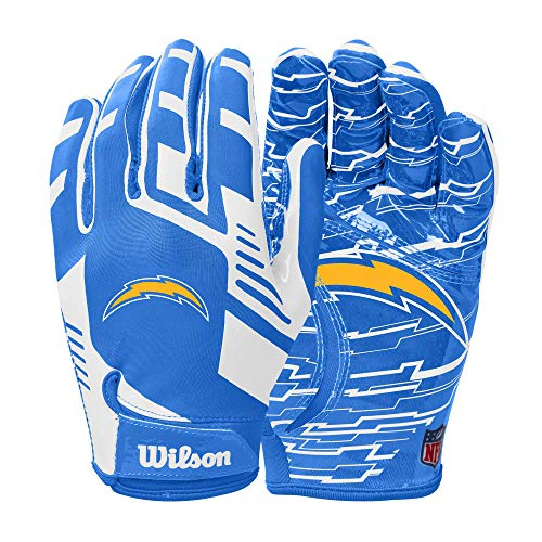 Wilson NFL Stretch Fit Football Gloves - Los Angeles Chargers- Adult