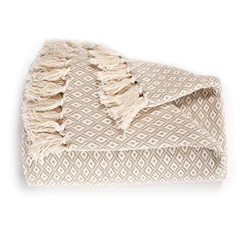 EHC Super Soft Cotton Große Überwurfabdeckungen Bis zum 2-Sitzer-Sofa oder Doppelbett - Beige