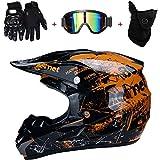 TKUI Motorrad Helm Motocross Helme City Helme BMX...