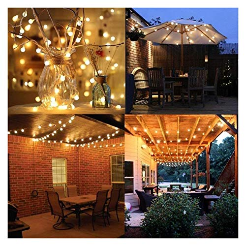 Yinyimei String Lights 6M 10M 20M 30M 50M Garland LED Ball String Light Chrismtas Bulb Fairy Decorative Lights for Home Wedding Party Decoration (Emitting Color : Purple, Style : 50M 400LED)