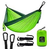 Grassman Amaca da campeggio doppia e singola con cinghie per albero, leggera, attrezzatura per paracadute, attrezzatura da campeggio per escursioni al chiuso, viaggi, escursioni, spiaggia