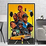 Impresiones de Carteles Biggie Notorious Pac Jay NWA Legend Star Collage Canvas Oil Painting Art Wall Pictures Living Room Home Decor-Sin marco-40X50cm