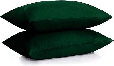 DAN RIVER 100% Cotton Jersey Pillowcase Queen Size  Jersey Knit Pillowcases Soft Cozy Pillow Covers Heather Cotton Jersey Pil
