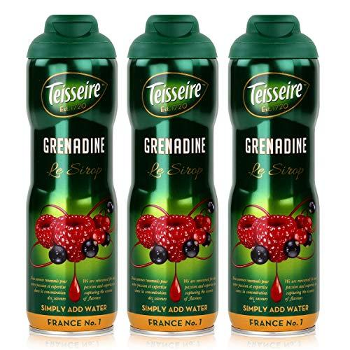Teisseire Getränke-Sirup Grenadine 600ml - Sirup der genauso schmeckt wie die Frucht (3er Pack)