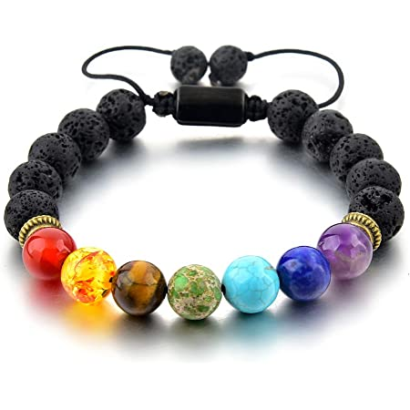 Black Lava And White Dyed Wood Beads Scent Bracelet with a Small Sample of D\u014dTERRA Lavender Essential Oil 8-9mm beads