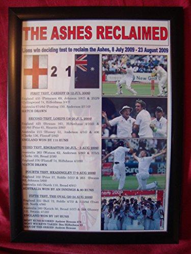 Inglaterra 2009 cenizas ganadores - impresión enmarcada