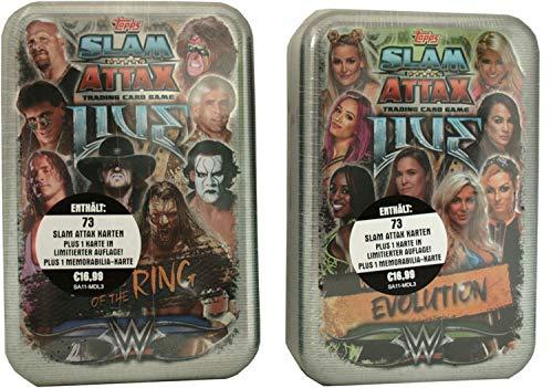 Slam Attax Topps - WWE Live - Mega Tin 2er Set