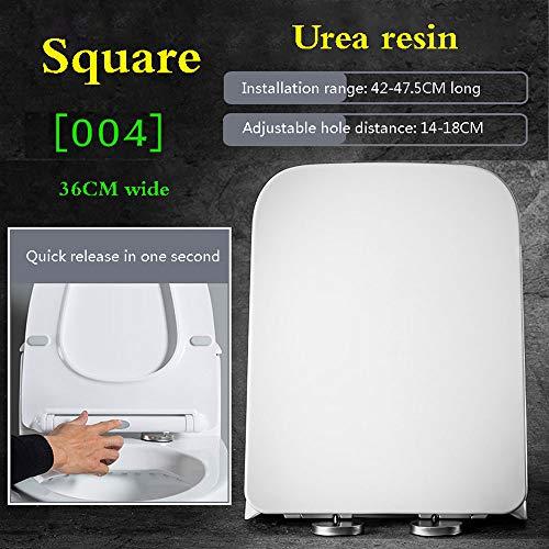 HYDD Universele toiletbril met softclose-sluitmechanisme, gemakkelijk te reinigen, eenvoudig te installeren, zacht in de greep, geen vorm, vergelen, slijtvast, wit