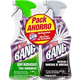 Cillit Bang - Spray limpiador quitagrasas, para cocinas y spray suciedad y manchas de humedad, para baños - Pack 2 x 750 ml