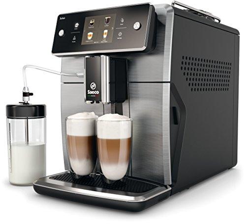 Saeco Xelsis SM7684/00 - Cafetera (Independiente, Máquina espresso, 1,7 L, Granos de café, De café molido, Molinillo integrado, Negro, Titanio)