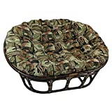 Blazing Needles Patterned Tapestry Double Papasan Chair Cushion, 58' x 6' x 78', Cheetah