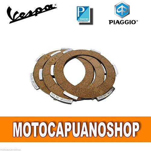 ORIGINALE PIAGGIO DISCHI FRIZIONE A 3 VESPA 50 SPECIAL R L N 50 90 SS