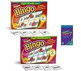 Trend Enterprises Sight Words Bingo - Sight Words Flash Cards Kindergarten Thru Elementary – 2-in-1 Sight Word Games for Kids Bingo Game – Kids Flash Cards Learning Games for Kids Ages 5-7
