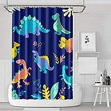 YUYUTE Cortinas de baño Decoración de bañoBath Curtain Black Untamed Fingerlings Dinosaurs Shower Curtain Decorative Water Resistant for Bathroom,Printing Bath Curtains