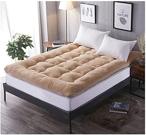 AZD Materasso futon del Pavimento, Materasso Giapponese del futon, Materasso del Pavimento, Pad Materasso del Divano, Comfort Universale Medio fermezza,Beige,Full