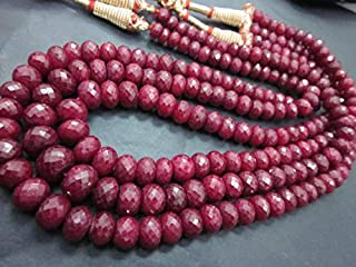 Jewel Beads 50% Off 1 Full Strands of 14 Inches Strand. Long Sapphire Cutting Faceted rondelle 6-9 mm Code-AUR-38618