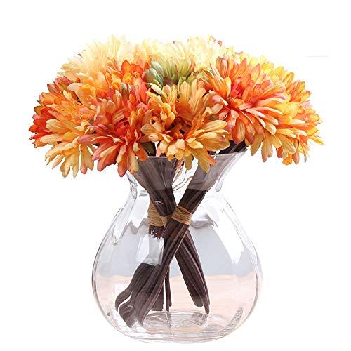Yjdr Europea hidropónico clásico Barroco florero, Flor del Vidrio Transparente, Sala de Estar,...