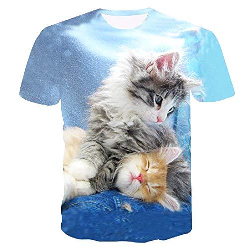 C018 - t-shirt gebreide katten - t-shirt - kittens - 3d - snoepjes - man - man - korte mouwen - unisex - vrouw - origineel cadeau-idee - grappig