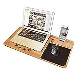 mikamax - Lapzer Laptop Schreibtisch - Bambus - Luftlöcher - Betttisch - Laptoptisch...