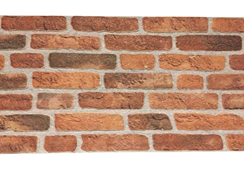 Wandverkleidung in Steinoptik aus Styropor für Küche • Terrasse • Schlafzimmer • Wohnzimmer | Wandpaneele für mediterrane Wandgestaltung | 120cm x 50cm x 2cm Dunkelrot