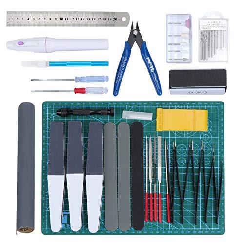 HSEAMALL 33 STÜCKE Gundam Modeler Grundwerkzeuge, Modellbau Werkzeuge für Automodell Montagebaukasten