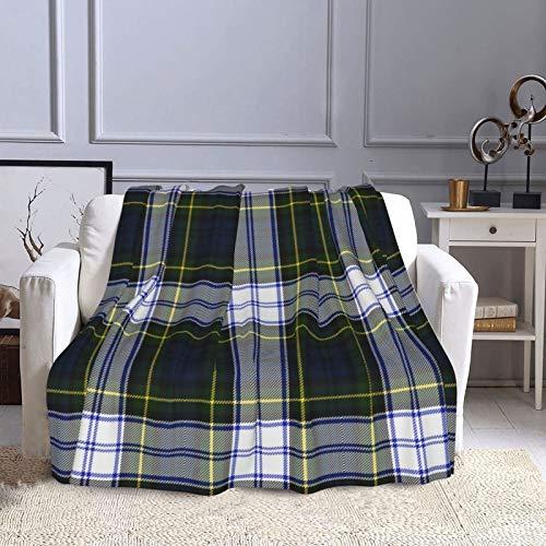 KCOUU Couverture polaire 127 × 152 cm Tartan Plaid confortable doux et chaud Couverture décorative pour canapé, lit, canapé, voyage, maison, bureau toutes saisons