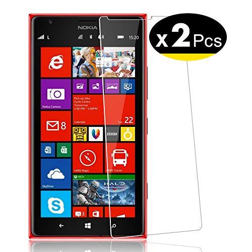NEW'C 2 Pezzi, Vetro Temperato per Nokia Microsoft Lumia 1520, Pellicola Prottetiva Anti Graffio, Anti-Impronte, Senza Bolle, Durezza 9H, 0,33mm Ultra Trasparente, Ultra Resistente