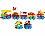 Woodyland Números Steckspiel Puzzle Steckpuzzle Madera Puzzle aprenden ferroviarias Animales