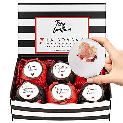 Bath Bombs for Women - Luxury Organic Bath Bombs for Girls and Women - Vegan Natural Gift Sets ? US Made - La Bomba Set