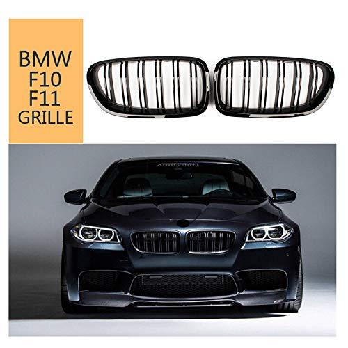 Front Nieren Grill für BMW5 Serie F10 F11 M5 2010-2017 ABS schwarz glänzend Doppel-Lamellen Grill