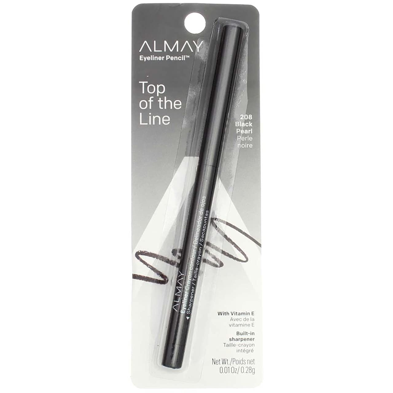 Almay Top of the Line Eyeliner Pearl 208 o Black 0.01 Cheap mail NEW before selling order shopping Pencil