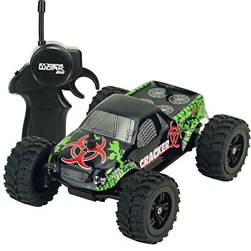 4-channel Off-road 1/32 RC Car, High-speed All-terrain High-speed Mini RC Buggy, Large Tire Shock-absorbing RC Truck, 2.4G USB Charging Racing Car, Kid's Birthday Remote Control Toy Car Gift hefeide