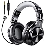 OneOdio Computer Headsets with Mic - Wired Over Ear PC Headphones with In-Line Control Mute & Detachable Microphone for Zoom Skype Office Conference Phone Call Laptop Gaming PS4 Xbox One Online Course