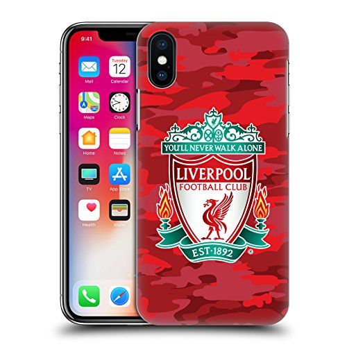 Head Case Designs Offizielle Liverpool Football Club Home Crest Farben Camou Harte Rueckseiten Handyhülle Hülle Huelle kompatibel mit Apple iPhone X/iPhone XS