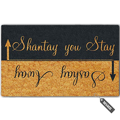 MsMr Funny Door Mat Entrance Floor Mat Sashay Away, Shantay You Stay Non-Slip Doormat Welcome Mat 23.6 inch by 15.7 inch Machine Washable Non-Woven Fabric