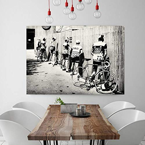 Póster Lienzo Aqaaq Blanco Y Negro Bicicleta Ciclista Imprimir Bicicleta Vintage Foto Cartel Regalo Para Baño Decoración Hombres Orinar Orinando Ciclismo De Carretera Arte De Pared Sin Marco