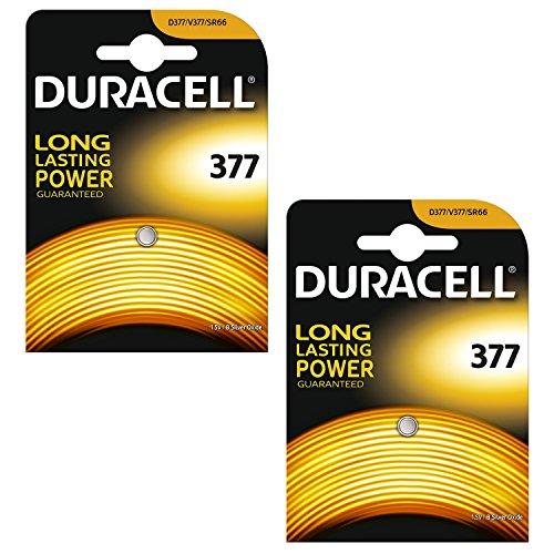 Duracell Batteria orologio ossido d'argento (2 X 377 SR626SW SB-AW AG4) 1.55V