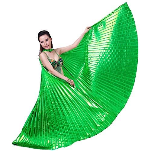 Alas De Las Mariposas Adultas De 360 Grados De Danza del Vientre De Oro Alas De Plata con Alas Danza del Vientre Danza De La Danza India Trajes Alas ala (Color : Green, Size : M)