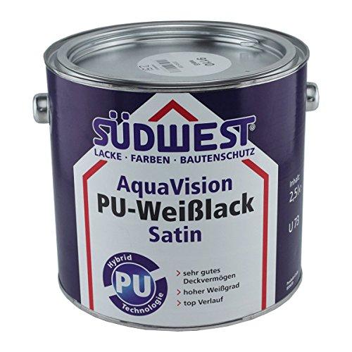 Südwest AquaVision PU-Weißlack Satin 2,5 Liter