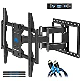 "Mounting Dream TV Mount for Most 42-70 inch Flat Screen TVs Up to 100 lbs, Full Motion TV Wall Mount with Swivel Articulating 6 Arms, TV Wall Mounts Fit 12-16"" Wood Studs, Max VESA 600x400mm"