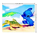 DISNEY COLLECTION Mouse Pad Stitch and Sea Turtle Design Mouse Pad for Gamers Home and Office 260mm210mm3mm