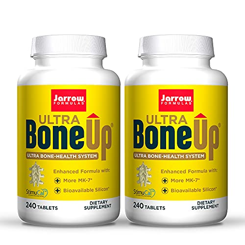 Jarrow Formulas Ultra BoneUp - 240 Tablets, Pack of 2 - Powerful, Multinutrient Bone Health Formula - Includes More MK-7 & JarroSil Activated Silicon for Added Bone Support - 240 Total Servings