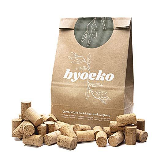 Byoeko tapón de Corcho colmatado para Cerrar, embotellar y envasar a presión Botellas de Vino, 24 x 39mm. 100 Unidades