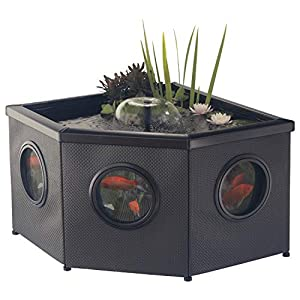 Blagdon Affinity Mocha Corner Weave Pool, Comes with Inpond 5-in-1 3000 Filter Pump with UV Clarifier, LED S...