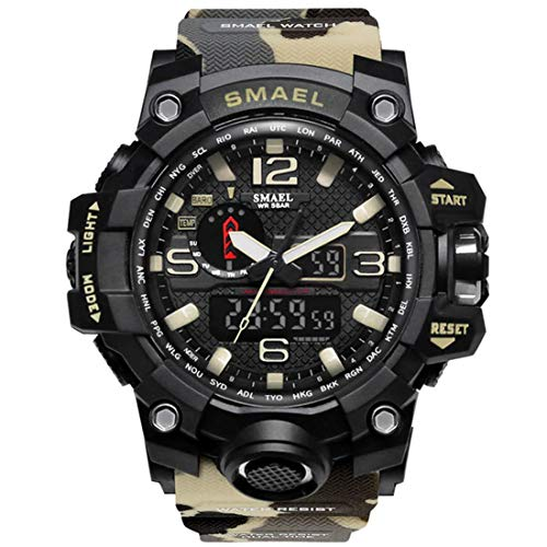 SMAEL Women Men Unisex Reloj De Pulsera Sporty-Military Plastic Quartz Analogous-Digital SL-1545B