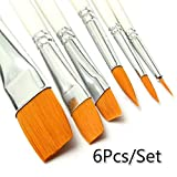 D8on6hh87gfjohy - Juego de pinceles de pintura al óleo de nailon para el cabello, acuarelas, pinceles acrílicos, juego de arte