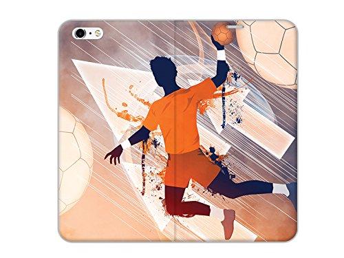 etuo Handyhülle für Apple iPhone 6 - Hülle Flex Book Fantastic - Handball - Handyhülle Schutzhülle Etui Case Cover Tasche für Handy