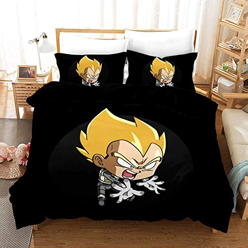 299 Duvet Cover Sets 3D Dragon Ball Printing Child Adult Bedding Set 100% Polyester Gift Duvet Cover 3 Pieces With 2 Pillowcases K-US Twin(173×218) cm